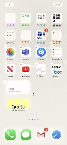 أداة مكدس عناصر واجهة مستخدم Apple Ios 14