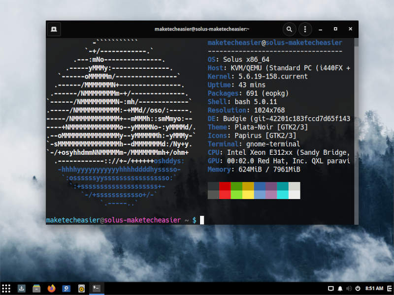 Budgie Neofetch