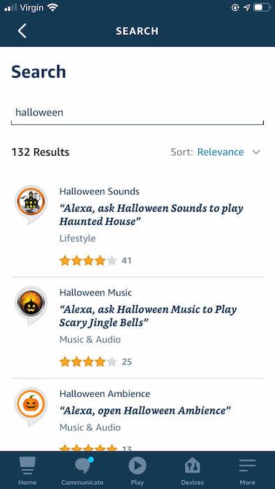 आप Amazon Alexa ऐप के जरिए हैलोवीन साउंड्स स्किल को सक्षम कर सकते हैं।
