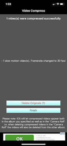 كيفية ضغط مقاطع الفيديو على Iphone Keep أو Delete