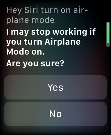 كيفية استخدام وضع الطائرة Siri Apple Watch