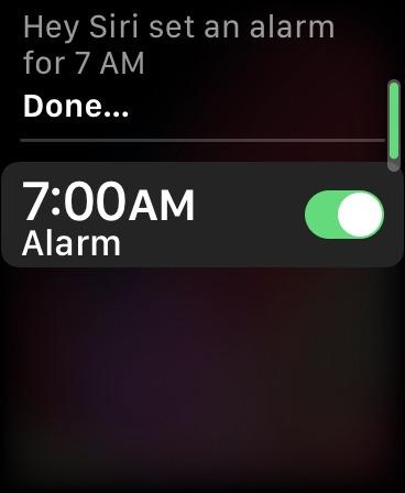 كيفية استخدام Siri Apple Watch Set Alarm