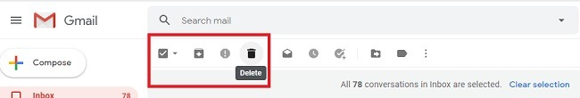 सभी अपठित ईमेल को जीमेल में पढ़ें और उन्हें हटाएं को चिह्नित करें