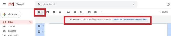 सभी अपठित ईमेल को जीमेल में पढ़ें और उन्हें हटाएं मार्क को पढ़ें