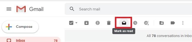 सभी अपठित ईमेल को जीमेल में पढ़ें और उन्हें हटाएं चिह्न को चिह्नित करें