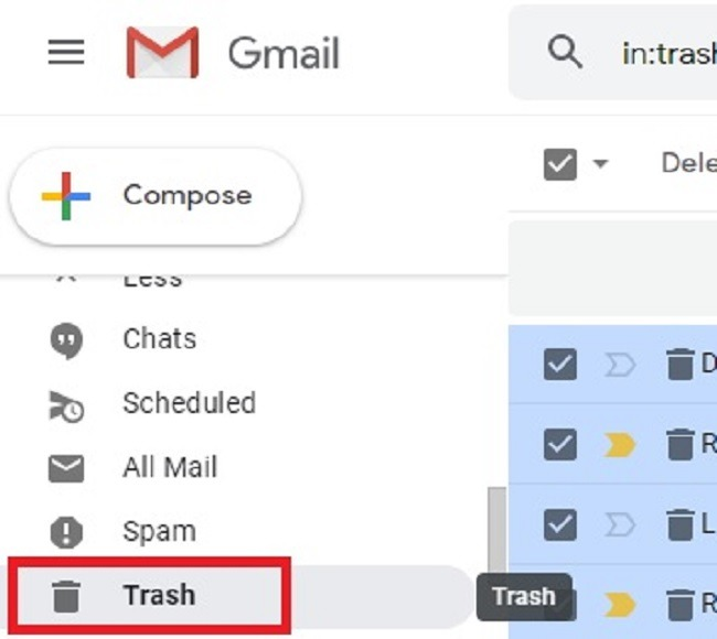 सभी अपठित ईमेल को जीमेल में पढ़ें और उन्हें हटाएं