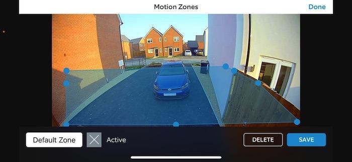 يمكنك إنشاء مناطق حركة أمان ، عن طريق سحب المربع الملون.