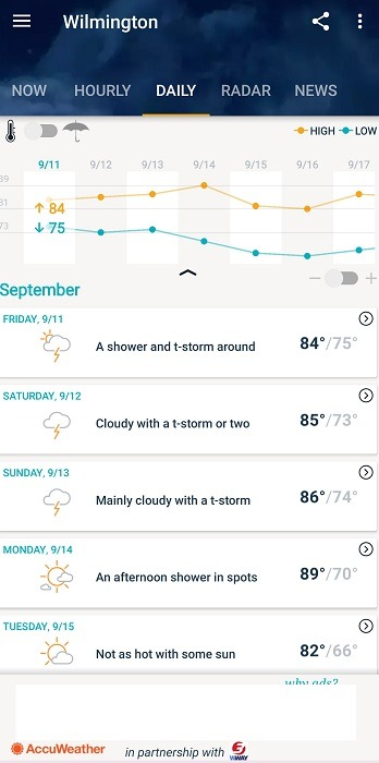 Alternatif Langit Gelap Teratas Untuk Android Accuweather