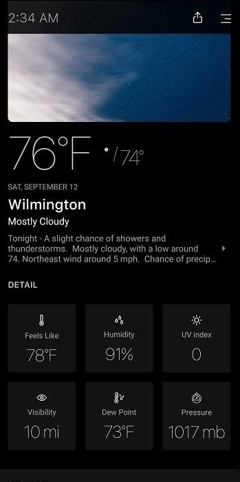 أفضل بدائل Dark Sky لنظام Android اليوم