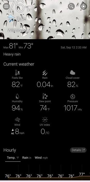 أفضل بدائل Dark Sky لنظام Android Weawow