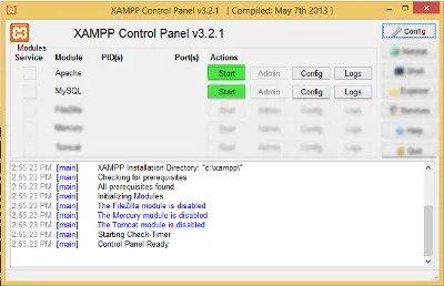 Panel Konfigurasi Windows Xampp