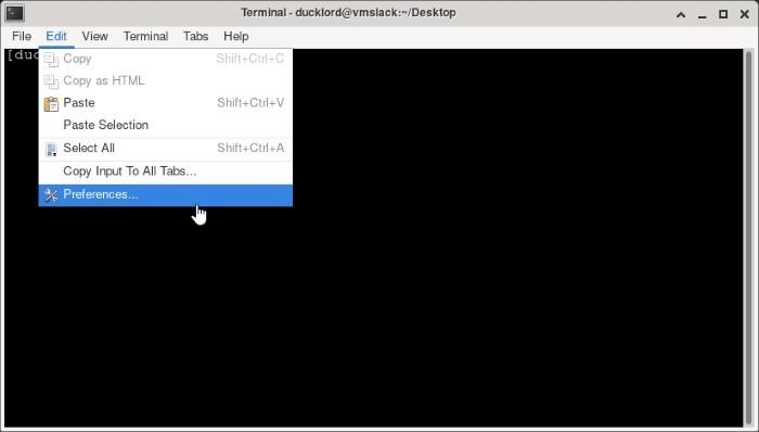 Xfce Transparent Panels Terminal Preferences