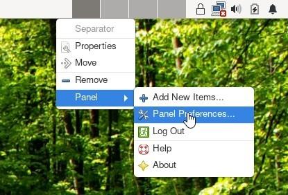 Xfce Transparent Panels Terminal Top Panel Prefs