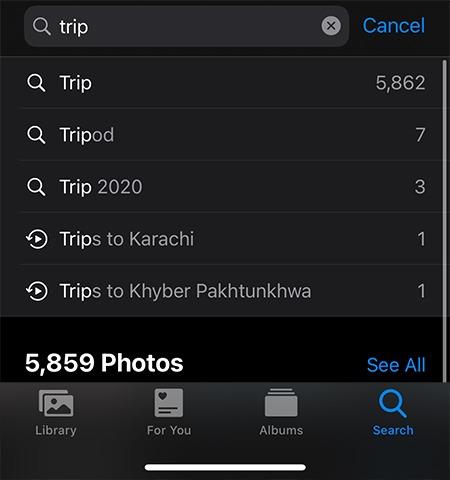 إضافة تعليق الصور Ios Search Caption