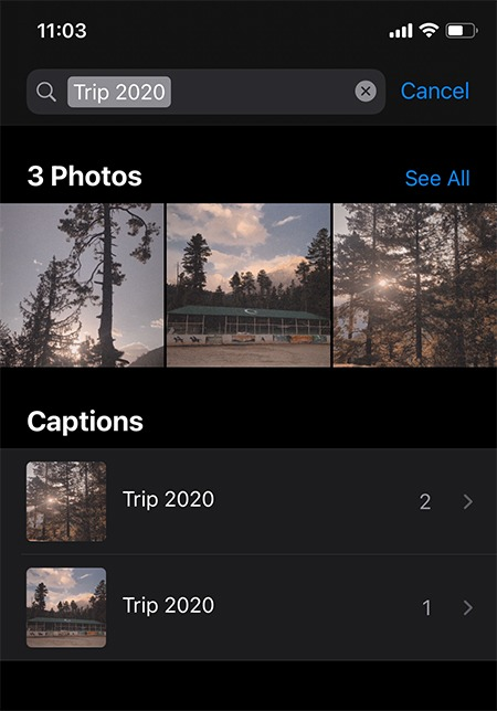 إضافة تعليق صور Ios Search