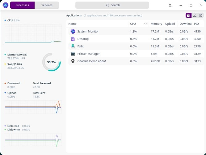 Deepin Review Update System Monitor