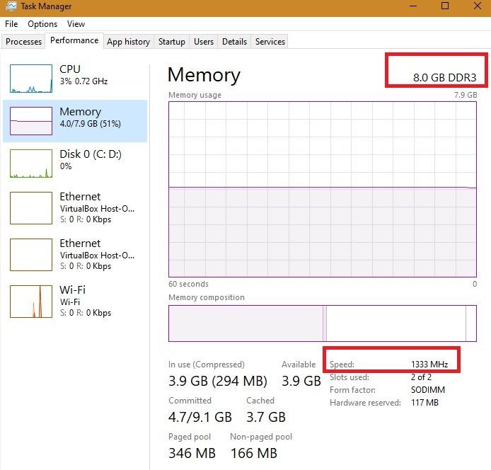 نوع ذاكرة إصلاح الذاكرة العالية