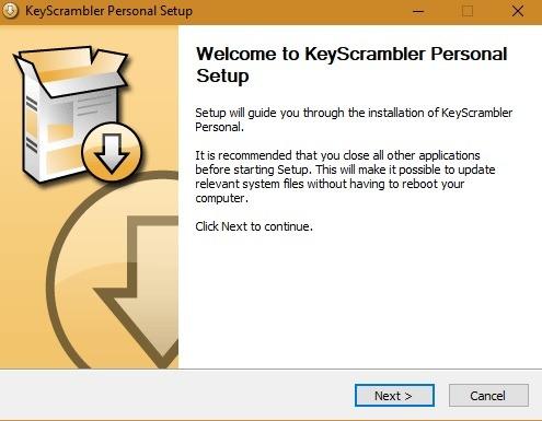إعداد Keyloggers لـ Windows10 Keyscrambler