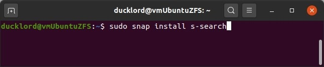 S Search Sudo Snap Install