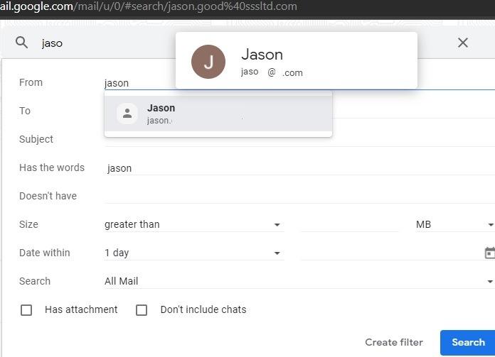 फ़िल्टर से Gmail फ़िल्टर को क्रमबद्ध करें