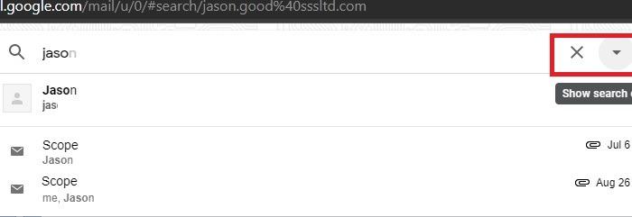 Gmail फ़िल्टर सॉर्ट करें खोज खोजें