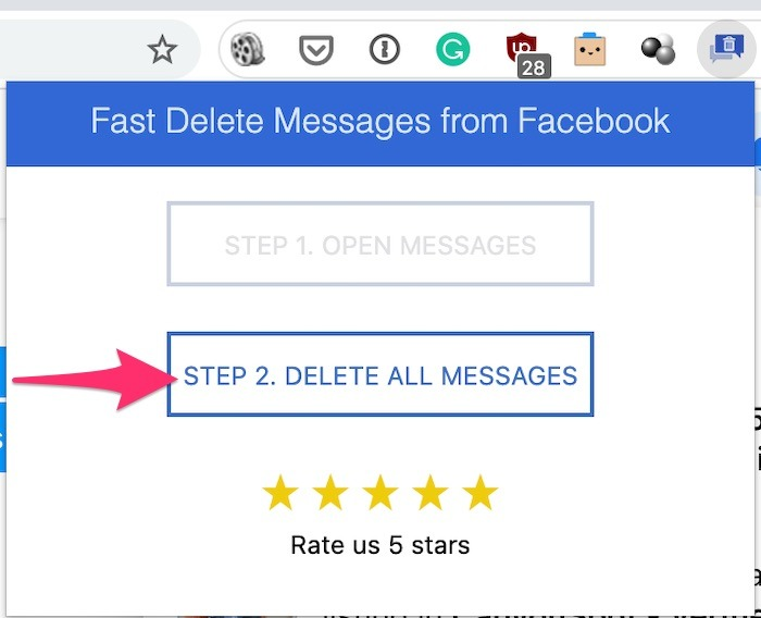 Bulk Delete Facebook Messages Delete