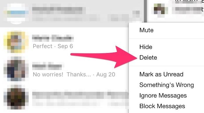 Bulk Delete Facebook Messenger Deleted