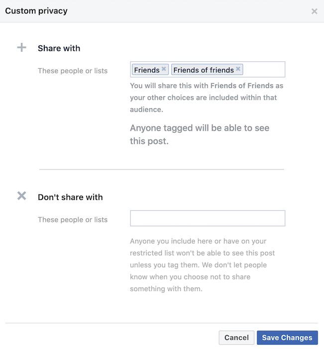 """يمكنك التحكم بالضبط في من يمكنه رؤية قائمة أصدقاء Facebook الخاصة بك ومن لا يمكنه ذلك ، عن طريق تحديد الخيار """"مخصص""""."""