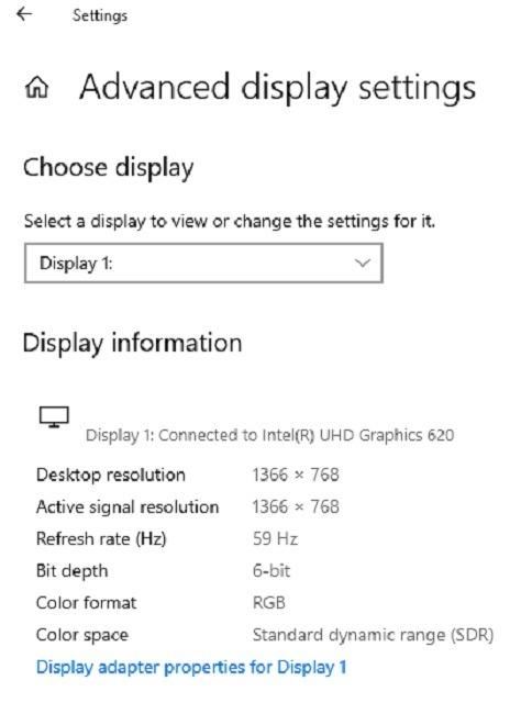 إصلاح مشاكل دقة الشاشة في Windows 10 Adapter