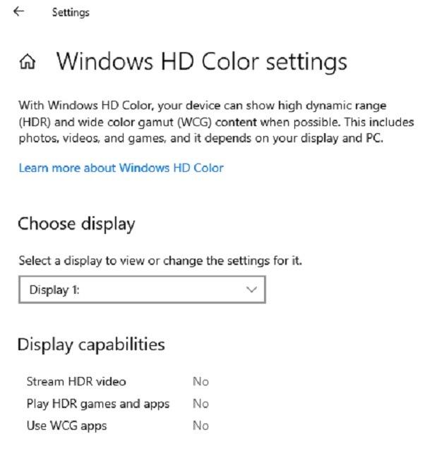 إصلاح مشاكل دقة الشاشة في Windows 10 Hd Color