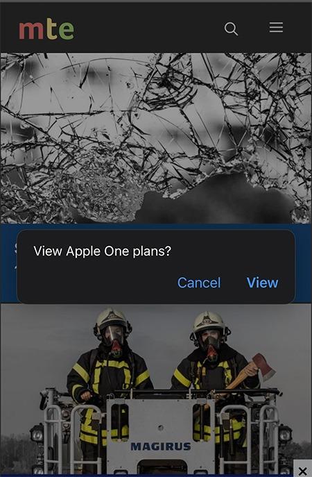 خطط Apple One Safari View