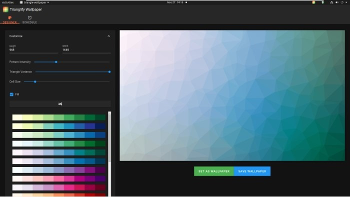 Create Abstract Wallpapers With Trianglify High Variance