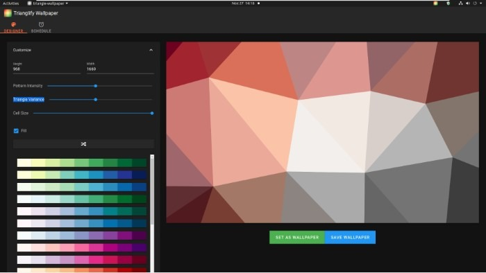 Create Abstract Wallpapers With Trianglify Large Cell Size