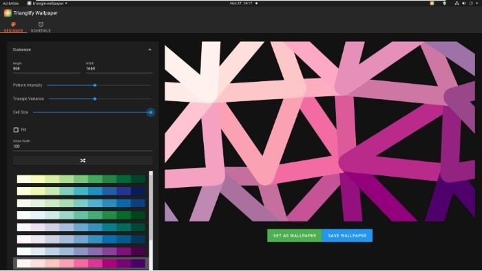 Create Abstract Wallpapers With Trianglify Large Values