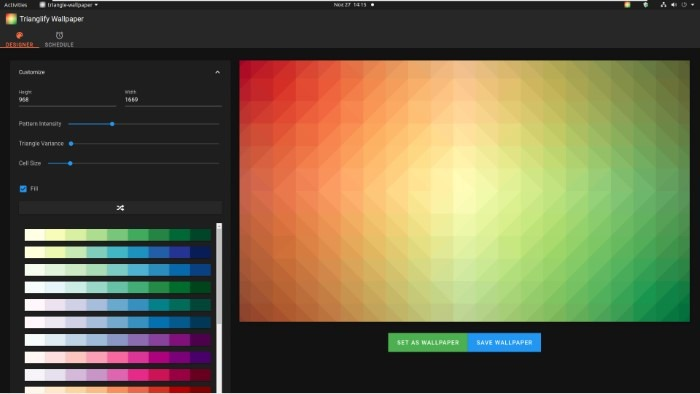 Create Abstract Wallpapers With Trianglify Low Variance
