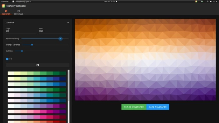 Create Abstract Wallpapers With Trianglify Pattern Intensity