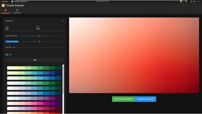 Create Abstract Wallpapers With Trianglify Small Cell Size