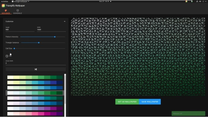 Create Abstract Wallpapers With Trianglify Small Values