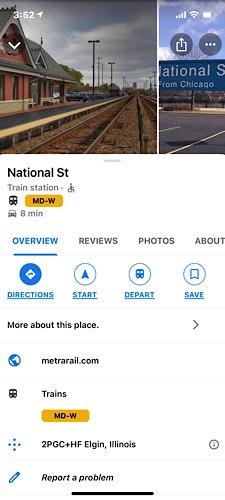 قطار تحديث خرائط Google