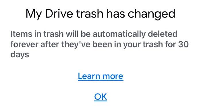 أخبار جوجل تخزين محرك المهملات