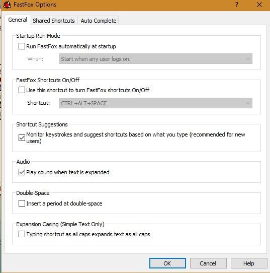 पाठ विस्तार Fastfox विकल्प