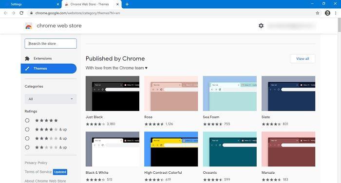 गूगल सर्च सेलेक्ट थीम क्रोम को कैसे बदलें