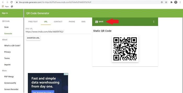 كيفية حفظ كود Qr Code Chrome Extension