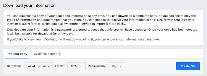 आप अपने सभी डेटा, से डाउनलोड कर सकते हैं
