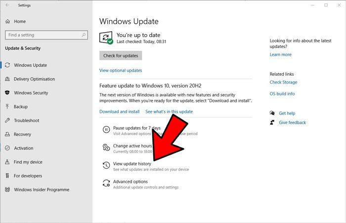 Start Menu Search Not Working Roll Back Update Windows 10