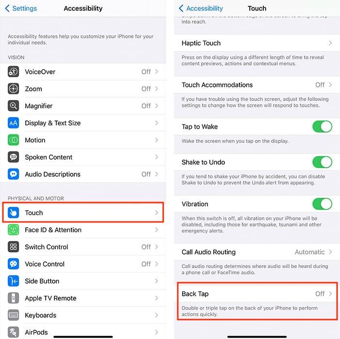 Kembali Ketuk Opsi Aksesibilitas Iphone