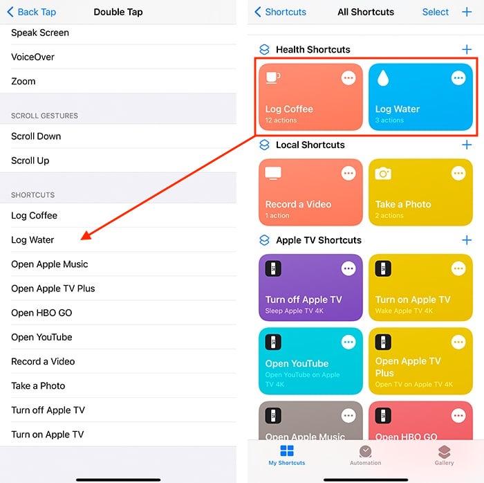 Kembali Ketuk Integrasi Aplikasi Iphone Shorcuts
