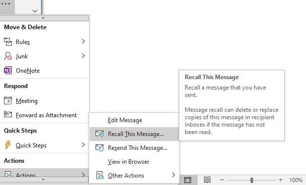Detail Pesan Ingat Klien Outlook