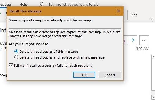 Klien Outlook Mengingat Pesan Belum Dibaca