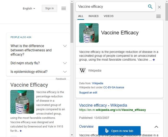 Hasil Pencarian Sidebar Bing